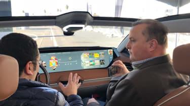 Byton Concept ride - interior dash