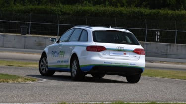 Audi A4 FitCar PPV cornering rear