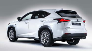 Lexus NX revealed white rear