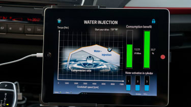 BMW 1 Series Direct Water Injection - screen graphs info