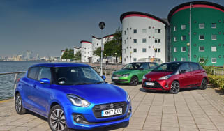 Suzuki Swift vs Toyota Yaris vs Skoda Fabia - header
