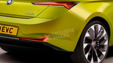 New Skoda EV sports car - rear detail (watermarked)