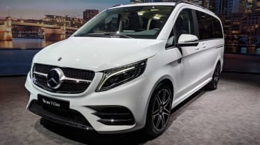 Mercedes V-Class facelift - reveal white