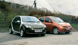 Smart ForFour and Nissan Micra
