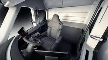 Tesla lorry - electric truck revealed - interior cabin