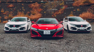 Two Honda Civic Type Rs and NSX