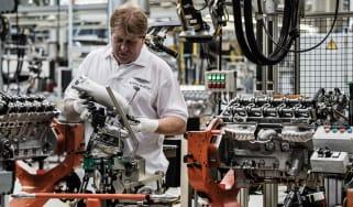 Aston Martin 5.2-litre twin-turbo V12 engine - header