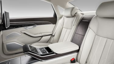 New Audi A8 unveiled - rear seats