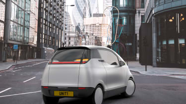 Uniti One EV - rear 3/4 static London