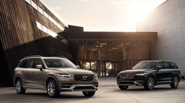 Volvo XC90 static two cars