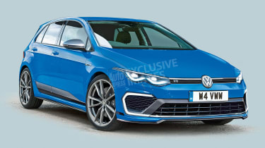 New Volkswagen Golf R - front (watermarked)