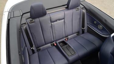 BMW 430i Convertible - rear seats