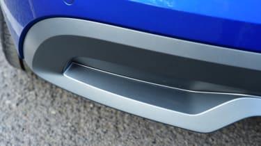 Skoda Kamiq faux exhaust detail
