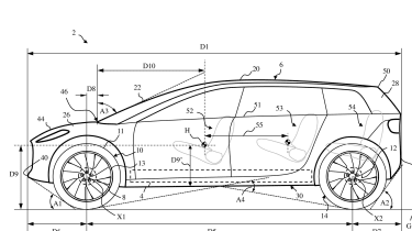 Dyson electric car patent drawings