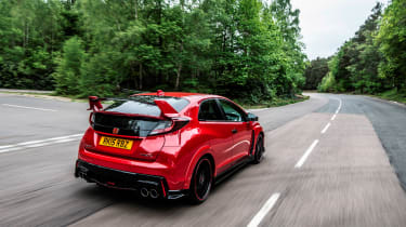 New Honda Civic Type R 2015 rear tracking