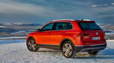 Volkswagen Tiguan snow drive review - rear quarter