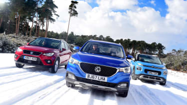 MG ZS vs SEAT Arona vs Citroen C3 Aircross - header