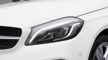 Mercedes A200d headlight detail