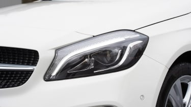 Mercedes A200d headlight detail