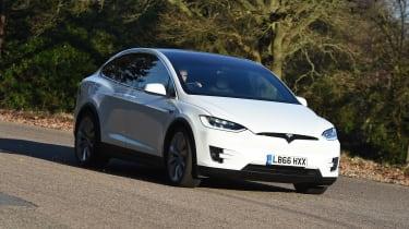 Tesla Model X - front cornering