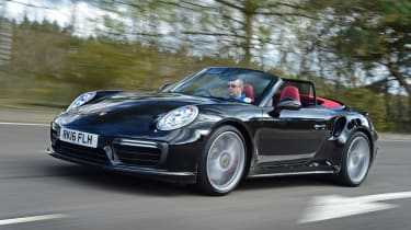 Porsche 911 Turbo Cabriolet 2016 - front tracking