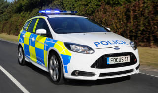 Ford Focus ST estate police car front