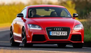 Audi TT RS Plus front cornering