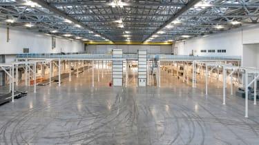 Aston Martin St Athan factory - work floor