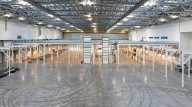 Aston Martin St Athan factory - work floor