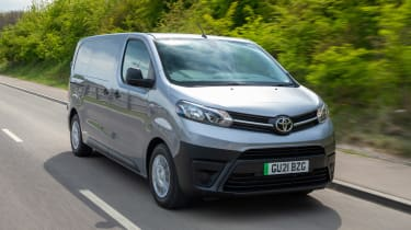 Toyota Proace Electric van - tracking front
