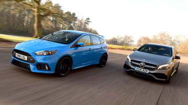 Ford Focus RS Mountune vs Mercedes-AMG A 45 - head-to-head