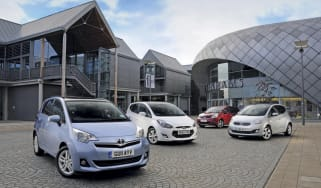 Toyota Verso-S vs Rivals front
