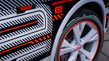Audi Q4 e-tron prototype - side detail