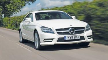 Mercedes CLS 350 front track