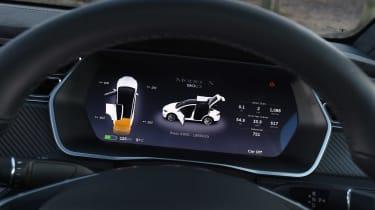 Used Tesla Model X - dials