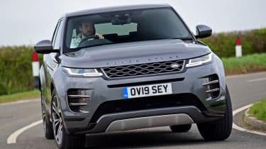 Range Rover Evoque front cornering