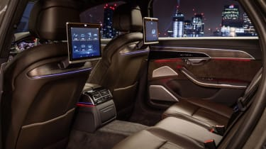 Audi A8 - rear seats night