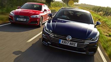 Twin test - VW Arteon vs Audi A5 - header