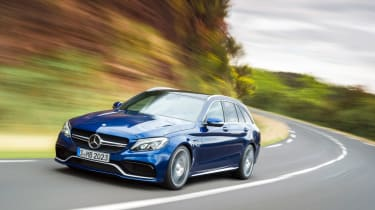 Mercedes-AMG C63 S Estate - front tracking