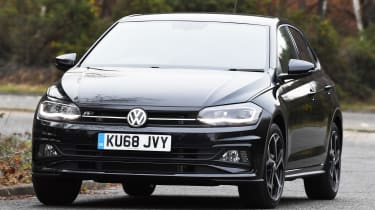 vw polo r-line front quarter driving