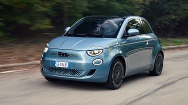 Fiat 500 electric - front N/S tracking
