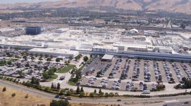 Tesla Factory Tour - aerial view