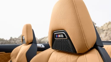 BMW M8 Competition Convertible - seat detail