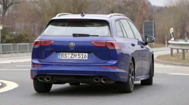 Volkswagen Golf R estate spy - rear