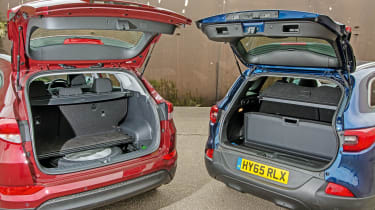 Hyundai Tucson vs Renault Kadjar - group test boot