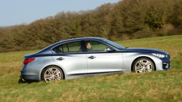 The Q50 can return a very company-car friendly 114g/km of CO2.