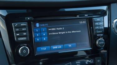 Used Nissan Qashqai Mk2 - infotainment screen