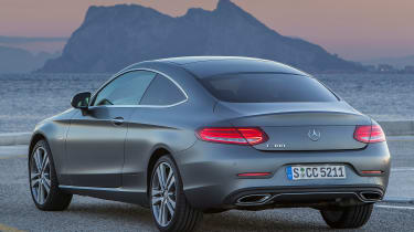 Mercedes C300 Coupe - rear static