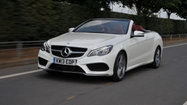 Mercedes E350 CDI Cabriolet front tracking