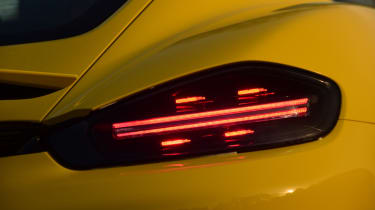 New Porsche Cayman GTS review - tail light
